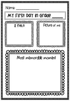 Back to School - First Day Back - Freebie - PrintableThis is a great activity for students to complete first day back at school. Students complete the graphic organizer and it can be displayed in the classroom. Looks great enlarged to A3 size. This worksheet can also be used as reflection at the end of the day.