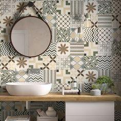 Porcelanatos Decorados Be Square y Be Square Easy – EMIL de… – Decoration Ideas Bathroom Design Small, Bathroom Interior Design, Remodeling Mobile Homes, Home Remodeling, Patio Design, Ux Design, Tile Design, Ideas Baños, Decor Ideas