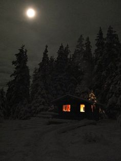 twocaribou:    theflow 3, Moon over the Peterson Lake cabin by Umnak on We Heart It. http://weheartit.com/entry/44491697