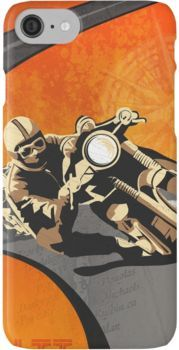 retro motorcycle Isle of Man TT poster iPhone 8 Cases