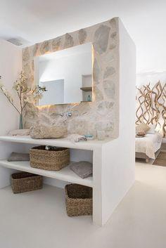 Bad Inspiration, Bathroom Inspiration, Bathroom Interior Design, Modern Interior, Ibiza Style Interior, 1960s Interior, Hall Interior, Tropical Interior, Interior Colors