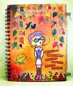 A Mermaid's Crafts: Fall Art Journal Page ~ indymermaid.blogspot.com