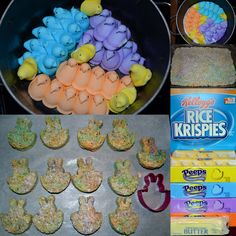Peeps Rice Crispy treats for Easter