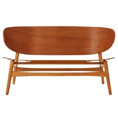 would love this in our hallway. ++ shell settee ++ hans wegner