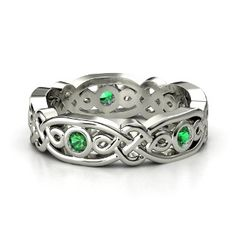 14K White Gold Ring with Emerald  I would love to have this ring!!!!!!!  wink wink