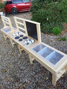 Water Table Diy, Sand And Water Table, Sand Table, Outdoor Playground, Toddler Playground, Preschool Playground, Kitchen Size, Mud Kitchen, Outdoor Activities For Kids