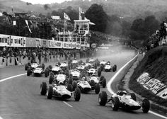 """The Charade circuit near Clermont-Ferrand, France. Combining race track with public roads, the French grand prix was held here during the late sixties/early seventies. From: """"EFG Gallery of the Month: Forgotten circuits of the world 