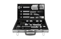 Mr. Bar-B-Q® 21-Piece Tool Set is a Must-Have Barbeque Registry Item according to Brides Magazine.  #bridalregistry #grilling #grillingtools #groom