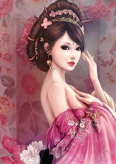 asian girl art