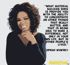 Quote from Oprah Winfrey Oprah Quotes, Gods Timing, Oprah Winfrey, Boss Lady, Other People, Inspire Me, Social Media Marketing, Wise Words, Spirituality