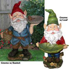 Garden Gnome Statuary Bird Feeders