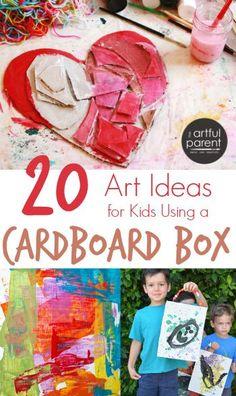 20 Cardboard Art Ideas for Kids