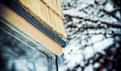 Eckdetail #architecture #wood #detail #alps #shingle Architekt: Holzbox Tirol; Foto: Umfeld Concept GmbH