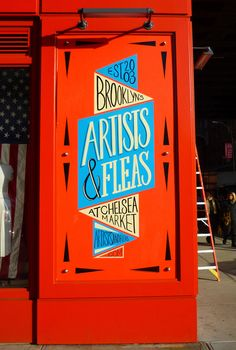 Artists & Fleas at Chelsea Market NYC on Behance lettering Inspiration Typographie, Typography Inspiration, Graphic Design Inspiration, Typography Served, Typography Letters, Types Of Lettering, Lettering Design, Sign Writing, Hand Drawn Type