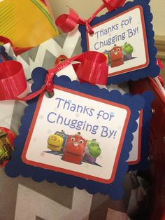 Chuggington Favor Tags  one dozen by PartyPaloozaDecor on Etsy, $9.00