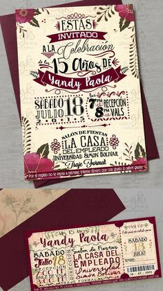 Quinceanera Party Planning – 5 Secrets For Having The Best Mexican Birthday Party Sweet 16 Birthday, 15th Birthday, Quince Invitations, Wedding Invitations, Quinceanera Party, Quinceanera Decorations, Ideas Para Fiestas, Floral Invitation, Party Planning