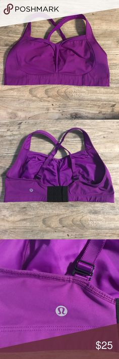 Lululemon Athletica Sports Bra Adjustable sports bra. Straps can be worn crossed or regular. Runs small. lululemon athletica Other