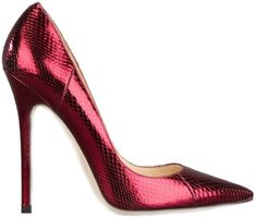 Jimmy Choo Red Watersnake Pumps Anouk Fall Winter 2013 #Shoes #JimmyChoo #Choos