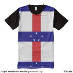 Flag of Netherlands Antilles All-Over Print T-Shirt
