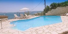 Private vacations in Pool Villa for Holidays in Corfu .from € 111 per night,all villa for (5-7 person0, with magnificent sea view, dining terraces, private beach private pool and parking in peaceful location, 18 km to Corfu town.Sleeps 4- 7 (4 Bedrooms).