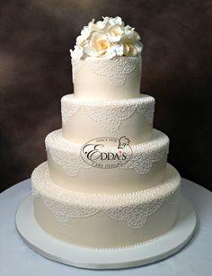 🎂 #WeddingWednesday #WB22 #WeddingButtercream #EddasCakes #WeddingCake #MiamiCakes #CustomCakes 🎂 http://eddascakes.com