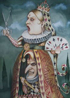 Goth Shopaholic: Dominick Murphy's Wicked Alice in Wonderland Paintings