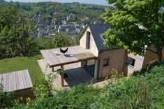 Stone cottage restored by Franklin Azzi Architecture. It is situated above the beautiful waterfront town of Yport in Normandy.