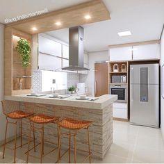 Cozinha, com funcionalidade aliada à estética 💗✨ → Mais inspirações e