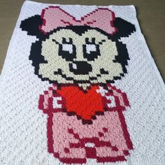 New baby blanket, minnie mouse baby blanket
