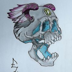 #skull #caveira #tatoo #tatuagem #art #casaartesvisuais