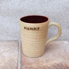 Coffee Tea Mug Wheel Thrown Stoneware Pottery For Mum by Caractacus Pots on Gourmly