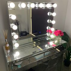 XOXOXO Mirror Looks Terrific Kacey!Thank you for the photo. Hollywood Mirror, Vanity, Instagram Posts, Furniture, Home Decor, Dressing Tables, Powder Room, Decoration Home, Room Decor