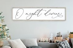 O Holy Night Sign O Night Divine Sign Christmas Wall Art Farmhouse Home Decor Distressed Wood Sign Large Sign Saying Holiday Winter Christmas Wall Art, Cozy Christmas, Christmas Signs, Outdoor Christmas, Christmas Holidays, Christmas Crafts, Christmas Decorations, Holiday Decor, French Christmas