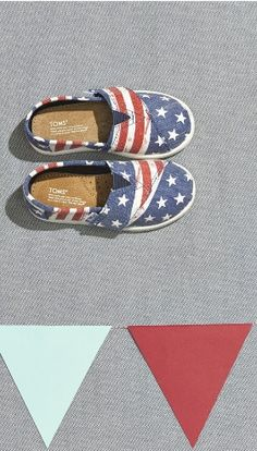 Getting ready for the 4th of July! Love these American flag Toms.