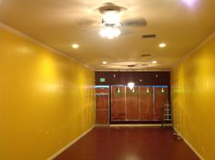February 2013: Walls and Floors painted, molding down, chandelier up.  This was a long process.