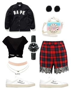 """""""Out of the woods"""" by chemduhart on Polyvore featuring Yves Saint Laurent, Boohoo, A BATHING APE, Betsey Johnson, Charlotte Russe and Movado"""