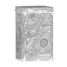 Marimekko Geranium White/Grey Large Tin