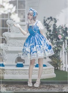 Avenue Denfer ~Treasures of Deep Blue~ Lolita JSK $99.99 - My Lolita Dress