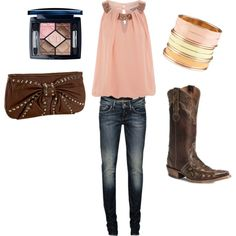 Outfit for a night out on country night, cute!