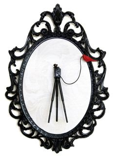 Large Format Camera on Tripod with Red Bird  by DeviantDecor, $55.00