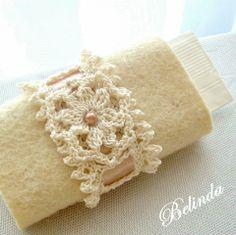 Crochet kleenex holder - romantic, Be..., meska.hu