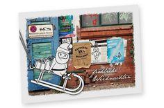 """Postkarte """"XMAS Halteverbot"""" aus Recyclingpapier von Frau Schnobel Grafik auf DaWanda.com"""