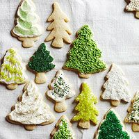 Sugar Cookie Christmas Trees.  Everybody goes for these first at our house.  Why not make them all trees!  :)