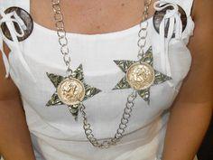 #Manualidades de #bisutería: #Collar de #estrellas con #cápsulas #nespresso #whatelse  #HOWTO #DIY #artesanía