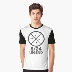 'Basket ball Legend 8 - Graphic T-Shirt by Trending Today, Basket, Printed, Awesome, People, Mens Tops, T Shirt, Stuff To Buy, Art