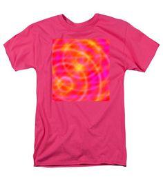 Space Art - Orange / Pink Lights T-Shirt by Julia Woodman