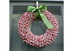 Peppermint wreath. Love, love, love.