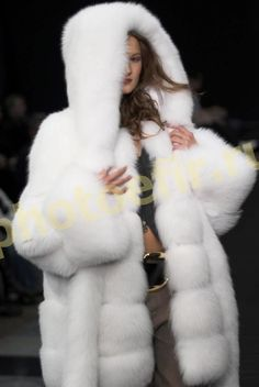 white fox fur parka