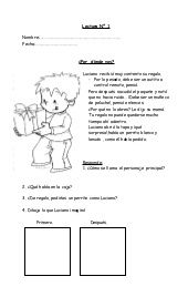 16835292 fichas-de-comprension-de-lectura by Luisa Adrina Jofre Molina via slideshare Bilingual Classroom, Bilingual Education, Spanish Classroom, Spanish Teacher, Teaching Spanish, Learn Spanish, Reading Centers, Reading Activities, Preschool Spanish