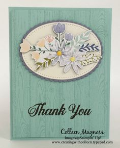 creatingwithcolleen.stampinup.net, creatingwithcolleen.typepad.com, Daisy Delight Bundle, stampin up, Daisy punch, Delightful Daisy Designer Series Paper, Thank you cards, 2017-2018 annual stampin up catalog